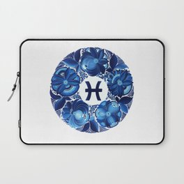 Pisces in Petrykivka style (without artist's signature/date) Laptop Sleeve