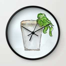Mint Julep watercolor, Kentucky Derby, Handpainted, Cocktail Wall Clock