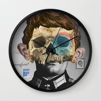 war Wall Clocks featuring War Collage 2 by Marko Köppe