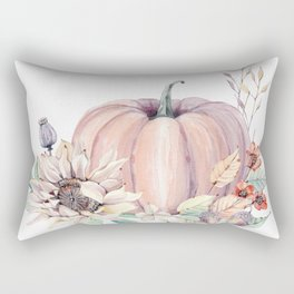 Autumn Pumpkin Rectangular Pillow