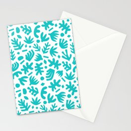 Matisse Paper Cuts // Bold Turquoise Stationery Cards