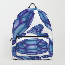 Blue Purple Crystal Pattern Backpack