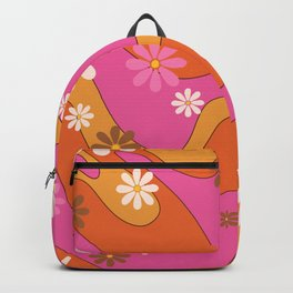 Groovy 60's and 70's Flower Power Pattern Backpack