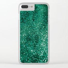 Sparkling EMERALD Lady Glitter #1 #shiny #decor #art #society6 Clear iPhone Case