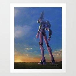 Eva Unit 01- Red in the Morning Art Print
