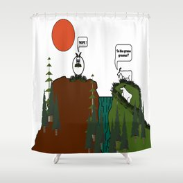 Is the grass greener? Shower Curtain