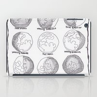moon phases iPad Cases featuring Moon Phases by Emilie Darlington