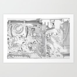 White Gears Art Print