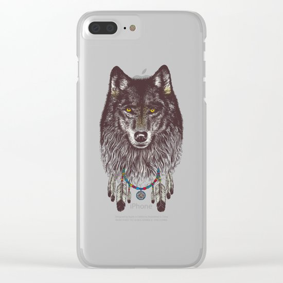 Wind Catcher Wolf Clear iPhone Case