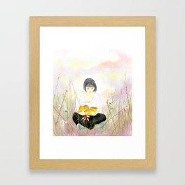 The reading girl Framed Art Print