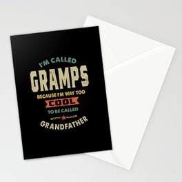 Mens I'm Called Gramps Cool Grandpa Gift Stationery Cards