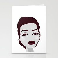 angelina jolie Stationery Cards featuring ANGELINA JOLIE by Fillipa Lara