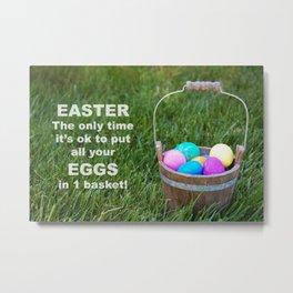 Easter Egg basket Metal Print