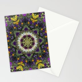 Summer Floral Jewels Kaleidoscope Stationery Cards
