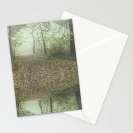 Walk in the Surreal Misty Forest Stationery Cards