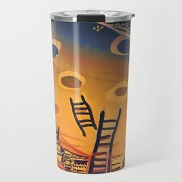Time through Time, from Caves to Skyscraper, from Organic to Geometric Travel Mug