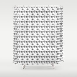 Heart Ink Pattern Shower Curtain