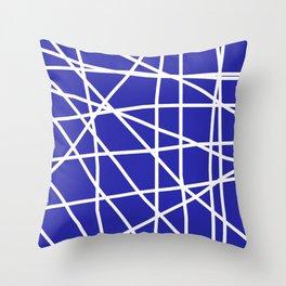 Doodle (White & Navy Blue) Throw Pillow