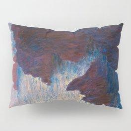 Claude Monet Impressionist Landscape Oil Painting Sunset At Sea Cliffs Ocean Cliff Landscape Pillow Sham
