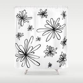 Energy Flowers Shower Curtain