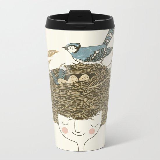 Bird Hair Day Metal Travel Mug