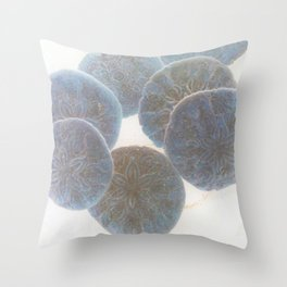 the shape of thoughts Throw Pillow