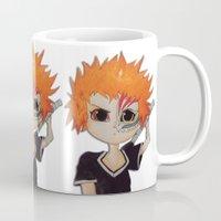 bleach Mugs featuring Baby ichigo Fan Art -Bleach by gunesimben