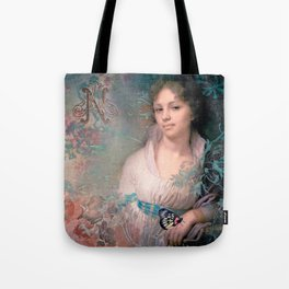 Romance of a beautiful lady Tote Bag