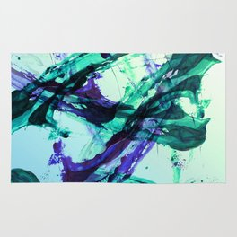 Vaporwave Style Abstraction Rug