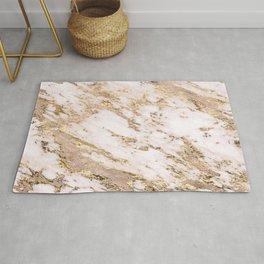 Golden smudge - blush marble Rug