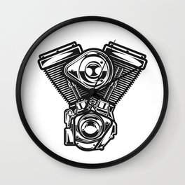 v-rod motorcycle engine harley Wall Clock