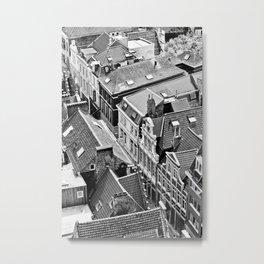 Rooftops of Ghent Metal Print