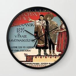 Czechoslav ethnographic exposition vintage ad Wall Clock