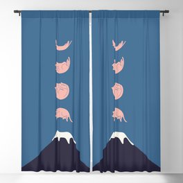 Cat Landscape 73 Blackout Curtain