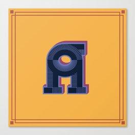 Alphabet Drop Caps Series- A Canvas Print