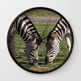 2 Zebras Wall Clock