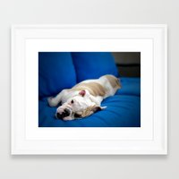 puppy Framed Art Prints featuring Puppy by brushnpaper