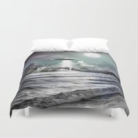 ufo Duvet Covers featuring Whaling UFO by Bakus