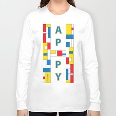 Happy Mondrian Long Sleeve T-shirt