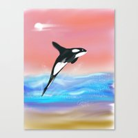 killer whale Canvas Prints featuring Killer Whale by Tim Cornwall