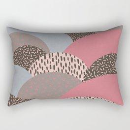 Abstract Autumn Hills Pattern Rectangular Pillow