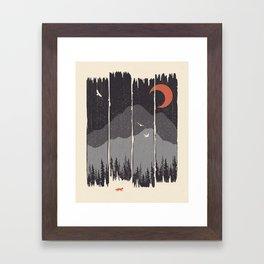 Winter Mountain Weather... Framed Art Print