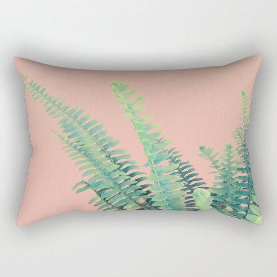 Ferns on Blush Rectangular Pillow