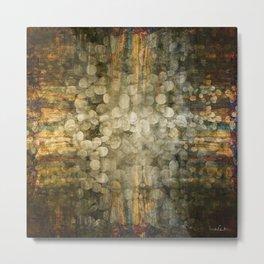 """Abstract golden river pebbles"" Metal Print"
