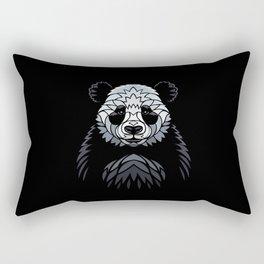 Tribal frontal Panda Rectangular Pillow