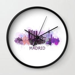 Madrid, spain skyline Wall Clock