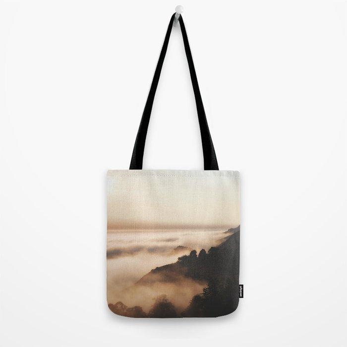 Mountain Fog #sun Tote Bag