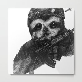 Solider Dr. Rollo-Koster, the sloth  Metal Print