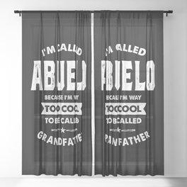 Mens I'm Called Abuelo Cool Grandpa Gift Sheer Curtain
