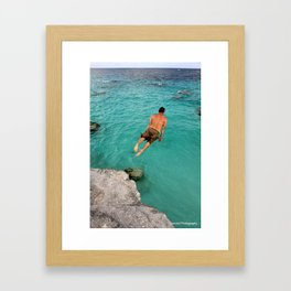 Flat Rock Framed Art Print